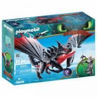 Playmobil Como Treinar seu Dragao Grimmel com Deathgripper 70039 -