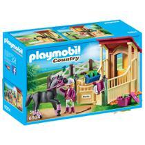 Playmobil Country - Cavaleiro com Estábulo - Blacky - 6934 - Sunny -