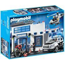 Playmobil Delegacia Posto Policial Helicóptero E Carro De Polícia - Sunny