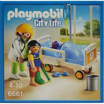Playmobil Pediatra com Criança e Leito - Sunny Brinquedos -