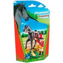 Playmobil - Soft Bags Cavalos - Cavalo Preto - 9261 - Sunny -