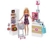 Playset Barbie Supermercado de Luxo Mattel  - 23 Peças