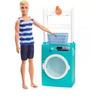 Playset boneco ken móveis e acessórios temáticos lavanderia -  mattel fyk52 -