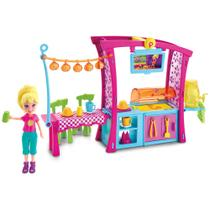 Playset com Boneca Polly Pocket - Churrasco Divertido - Mattel