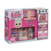 Playset com Mini Boneca e Acessórios - LOL - Pop Up Store - 3 em 1 - 50 Surpresas - Candide -