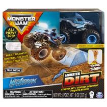 Playset com Rampa e Veículo - Monster Jam - Dirt Starter - Megalodon - Sunny -