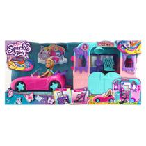 Playset com Veículo e Boneca - Sparkle Girlz - Beauty Salon - DTC -