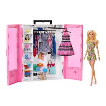 Playset e Boneca - Barbie - Barbie Fashionistas - Closet de Luxo da Barbie - Mattel -