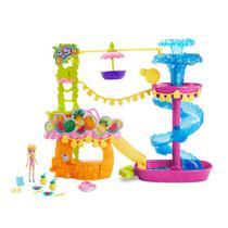 Playset e Boneca - Polly Pocket - Parque Aquático Abacaxi - Mattel -