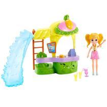 Playset e Boneca - Polly Pocket - Quiosque Parque dos Abacaxis - Mattel -