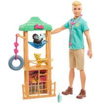 Playset e Boneco Ken - Ken Veterinário da Vida Selvagem - Mattel -