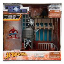 Playset e Mini Figura Colecionáveis - Nano Metals - Spider-Man - DTC -