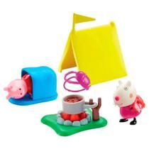 Playset e Mini Figuras - Peppa Pig - Acampamento - Dtc -
