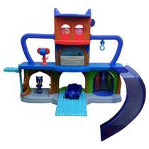 Playset e Veículo com Figura - PJ Masks - Quartel General - DTC -