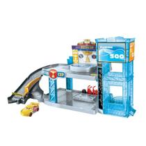 Playset e Veículo - Disney - Carros - Garagem Pistão - Florida 500 - Mattel -