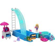 Playset Mini Boneca Polly Pocket - Piscina Surpresa - Mattel -  UNICA -