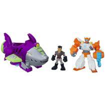 Playset Veículo e Figura Transformável - Transformers Rescue Bots - Shark Sub Capture - Hasbro -