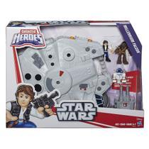 Playskool Galatic Heroes Star Wars Millennium Falcon Hasbro -
