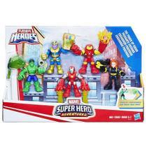 Playskool Marvel Super Hero Adventures 5 Bonecos Hasbro 13204 E0155 -
