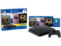 Playstation 4 1TB 1 Controle Sony com 3 Jogos - 3 Meses PS Plus