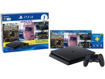 Playstation 4 1TB 1 Controle Sony com 3 Jogos - Headset PS Plus 3 Meses