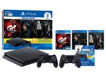 Playstation 4 1TB 1 Controle Sony com 3 Jogos - Plus 3 Meses com Controle Sem Fio Neo Versa