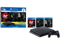 Playstation 4 1TB 1 Controle Sony com 3 Jogos - Plus 3 Meses