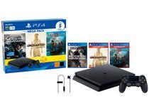 Playstation 4 1TB 1 Controle Sony  - com 5 Jogos