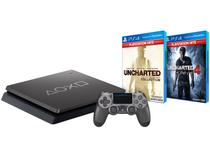 Playstation 4 1TB 1 Controle Sony - Uncharted: The Nathan Drake + Uncharted 4