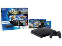 Playstation 4 500GB Sony Playstation Hits Bundle - 1 Controle 3 Jogos