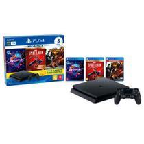 PlayStation  4 Hits V17 com 1 Controle DualShock 4, 03 Jogos e Voucher de assinatura de 03 Meses do PlayStation Plus - Sony
