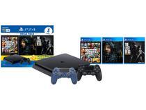 PlayStation 4 Mega Pack Bundle V9 1TB 1 Controle - Sony com 3 Jogos + Controle Sem Fio Midnight Blue