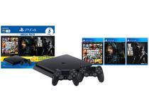 PlayStation 4 Mega Pack Bundle V9 1TB 1 Controle - Sony com 3 Jogos + Controle Sem Fio Preto