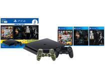 PlayStation 4 Mega Pack Bundle V9 1TB 1 Controle - Sony com 3 Jogos + Controle Sem Fio Verde