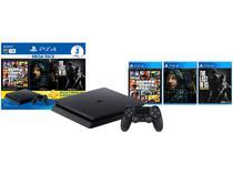 PlayStation 4 Mega Pack Bundle V9 1TB 1 Controle - Sony com 3 Jogos PS Plus 3 meses
