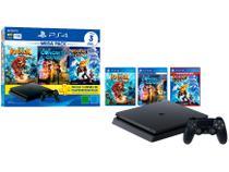 PlayStation 4 Mega Pack Family 1TB 1 Controle - Preto com 3 Jogos PS Plus 3 Meses