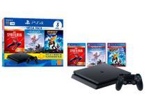 PlayStation 4 Mega Pack V15 1TB 1 Controle Preto  - Sony com 3 Jogos PS Plus 3 Meses