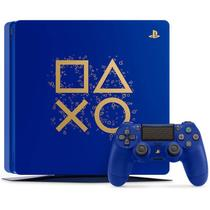 Playstation 4 Slim 1 TB PS4 Edição Especial Days of Play Azul - Sony