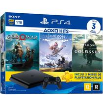 Playstation 4 Slim - 1 Terabyte + 3 Jogos (God of War + Horizon Zero Dawn + Shadow of Colossus) - Sony