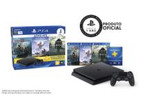 Playstation 4 Slim 1TB + 3 Jogos (God of War / Shadow Of The Colossus / Horizon Zero Down) - Sony