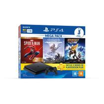 Playstation 4 Slim 1TB Bundle Hits V15 3 Jogos e PSN - Sony