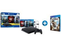 Playstation 4 Slim 1TB Sony 1 Controle com 3 Jogos - PS Plus 3 Meses Headset + Deponia para PS4