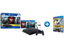 Playstation 4 Slim 1TB Sony 1 Controle com 3 Jogos - PS Plus 3 Meses + Sniper Elite 3 Ultimate Edition