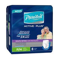 Plenitud Active Plus Fralda Geriátrica P/M C/8 -