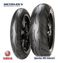 Pneu 110/70-17 + 140/70-17 Metzeler Sportec M5 Mt03 R3 Fazer -