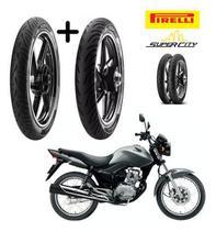 Pneu 2.75-18 E Pneu 90/90-18 Honda Cg 150 Tit/fan Pirelli -