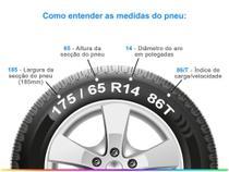 """Pneu Aro 14"""" Goodyear - 185/65R14 Assurance Touring 86T SL -"""