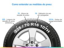 "Pneu Aro 16"" Pirelli 225/70R16 - 107H XL Verde All Season Scorpion"