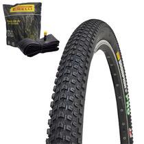 Pneu de Bicicleta Pirelli Scorpion Pro 29 x 2.20 Mtb Kevlar + Câmara Pirelli Americana -