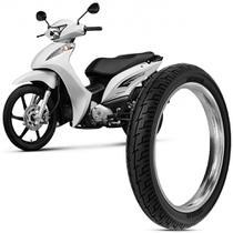 Pneu Moto Biz 125 Rinaldi Aro 14 80/100-14 49L Traseiro BS32 -